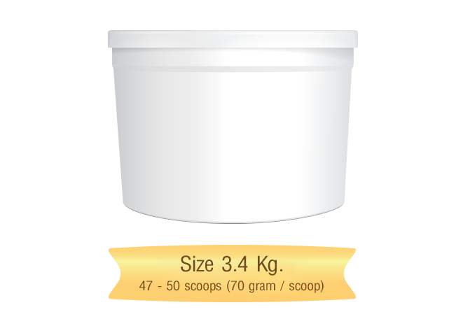 icecream scoop size 3.4 kg