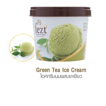 ไอศกรีมนมผสมชาเขียว