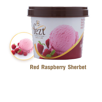 red rasberry sherbet