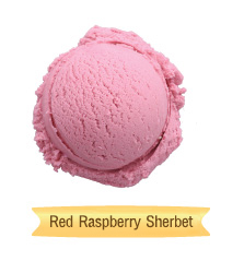 red raspberry sherbet